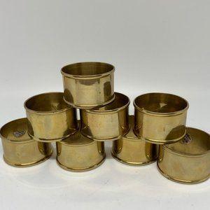 Vintage Brass Napkin Rings